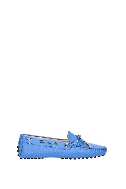 Tods - Mocasines de Piel para Mujer * Azul Size: 35
