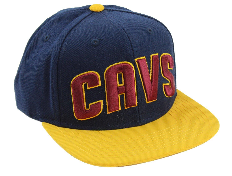 NBA Men's Cleveland Cavaliers On Court Snapback Hat, Navy   B06Y3FSYZ9