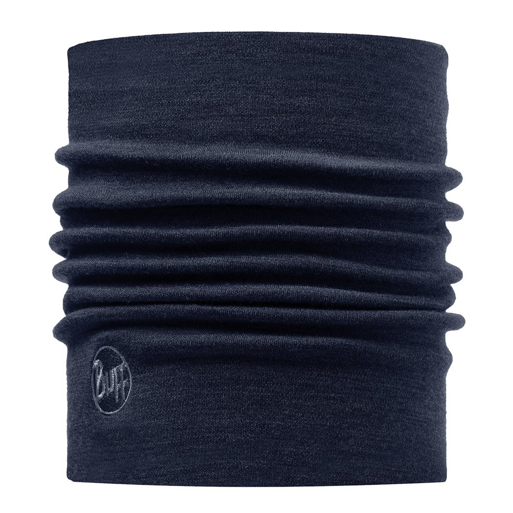 Buff Heavyweight Merino Wool Neck Warmer, Denim, One Size