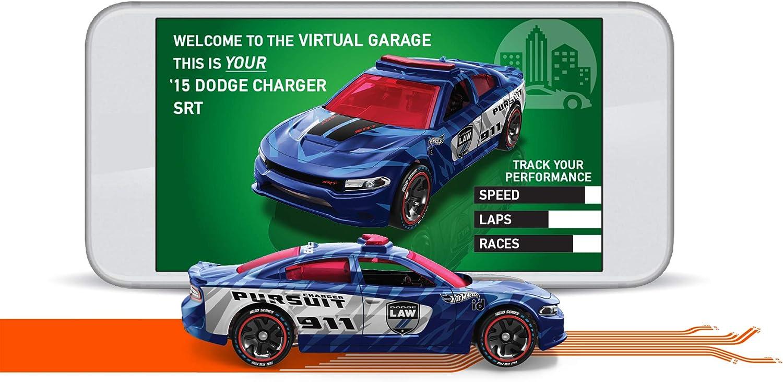 Hot Wheels iD FXB33 Auto Spielzeug ab 8 Jahren Die-Cast Fahrzeug 1:64 HiWay Hauler 3.0 mit NFC-Chip zum Scannen in der Hot Wheels iD App