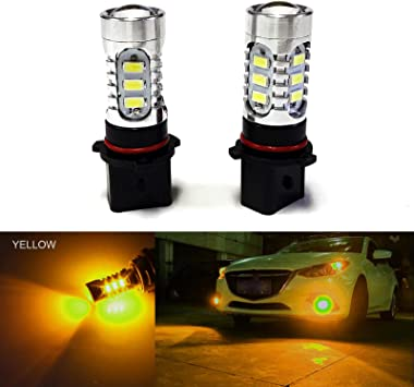 2 x COB LED Fog Light Bulbs H11 H8 H9 3000K Golden Yellow Color DRL Driving Lamp