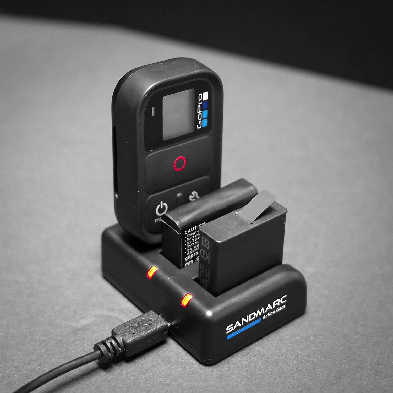 4 SANDMARC Procharge 5 Remote SM-228 Triple Chargeur pour GoPro Hero 6