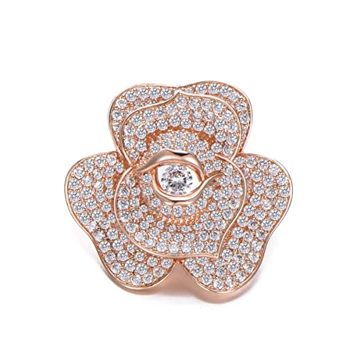 The Cheapest Price Women Rhinestone Red Rose Flower Brooch Pin Wedding Party Jewelry Gift Kindly Brooches & Pins Costume Jewellery
