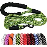 "MayPaw Heavy Duty Rope Dog Leash, 1/2"" x 6FT Nylon Pet Leash, Soft Padded Handle Thick Lead Leash for Large Medium Dogs…"