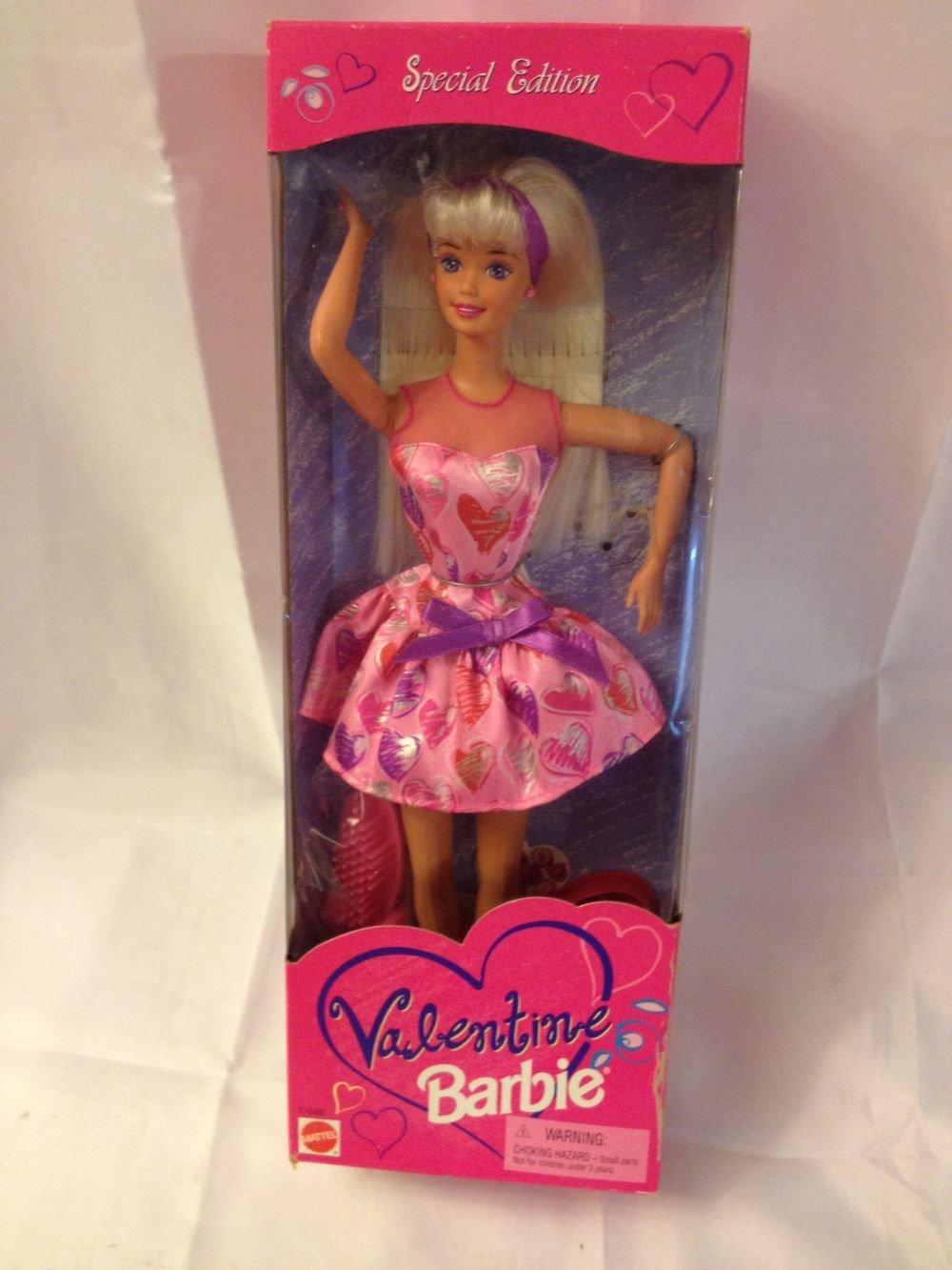 Barbie 1997 Valentine in Pink Dress with Valentines