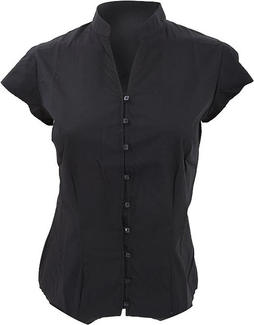 Mens Womens Kustom Kit Mandarin Collar Purple Shirt CLEARENCE