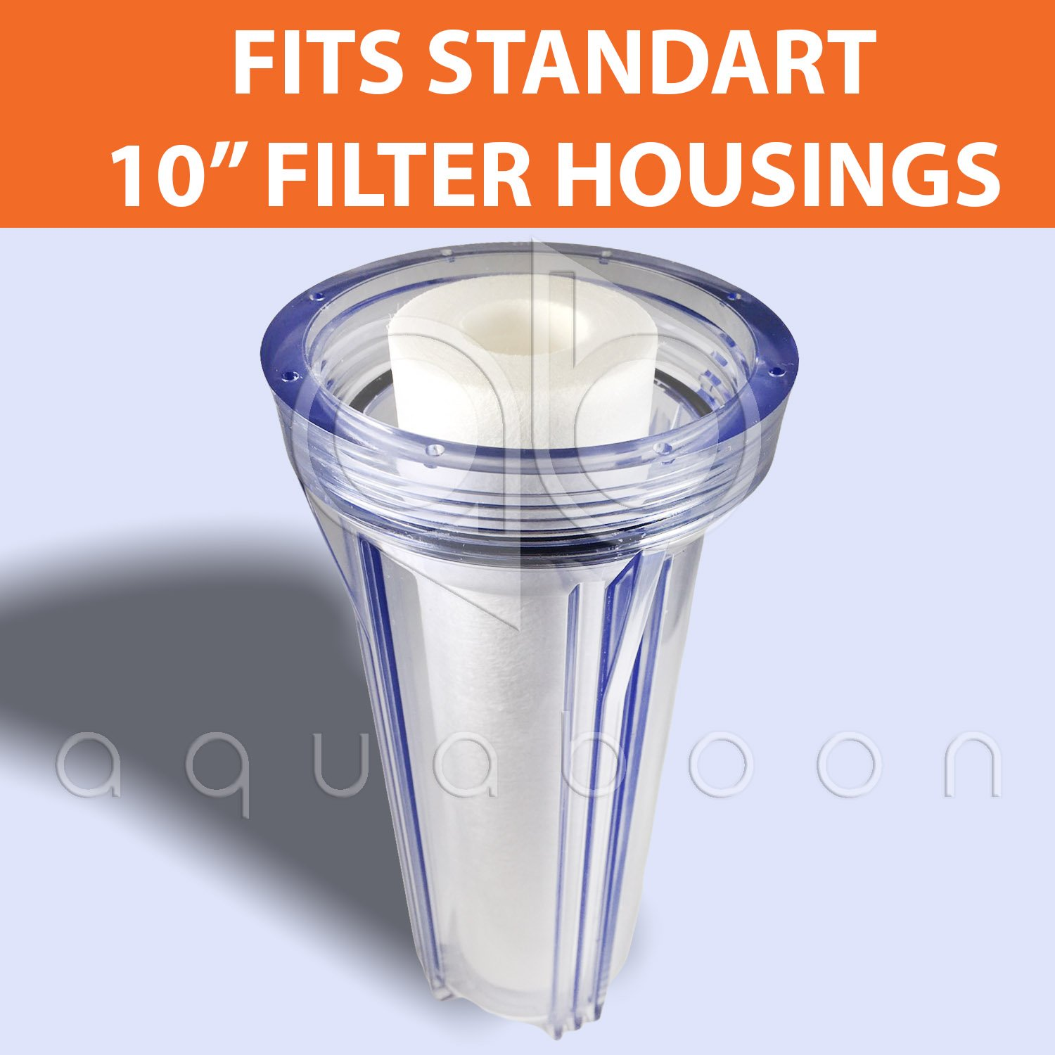 Replacement Filter Set with Sediment /& Carbon Filters for Standard 10 Housings AquaBoon