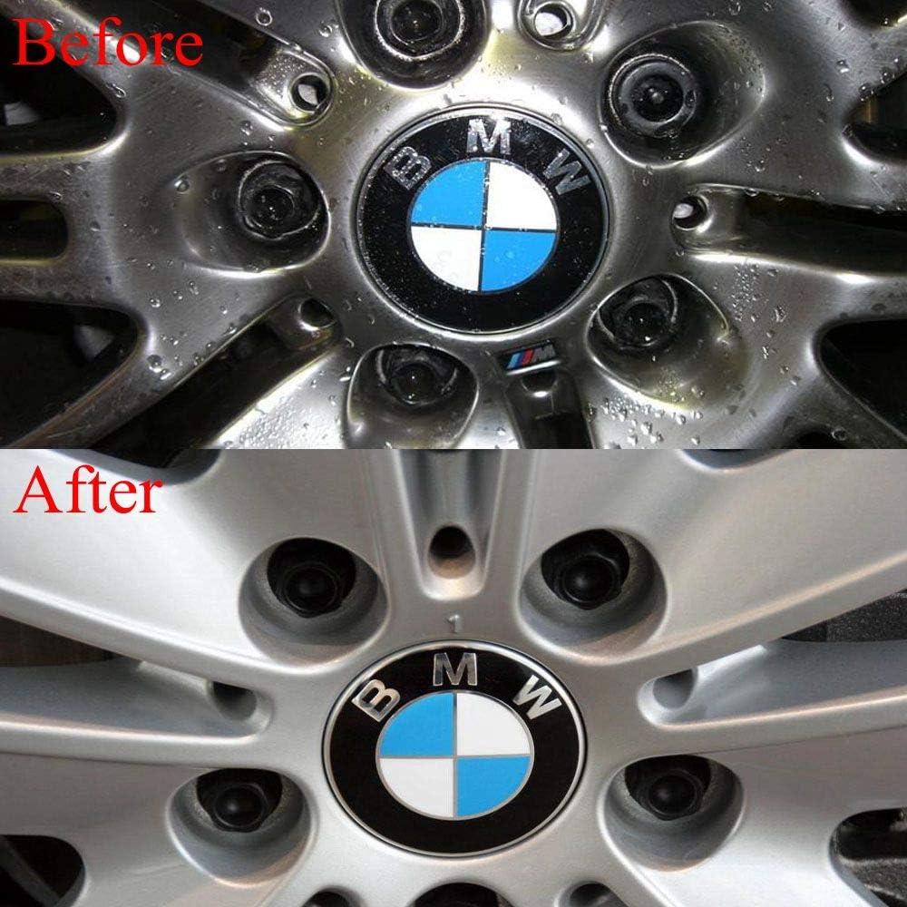 Enseng Set of 4-56mm Wheel Center Caps Emblem for BMW Rim Center Hub Caps for All Models with BMW Wheels Logo Blue /& White Color