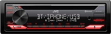 Jvc Kd T812bt Cd Receiver Mit Bt Freisprecheinrichtung Alexa Built In Hochleistungstuner Soundprozessor Usb Aux Spotify Control 4 X 50 Watt Tastenbeleuchtung Rot Navigation