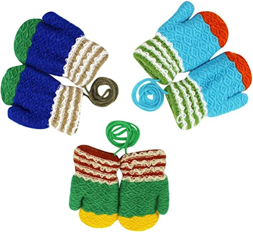 BODY STRENTH Kids Winter Gloves Warm Mittens Polar Fleece 2//3 Pairs