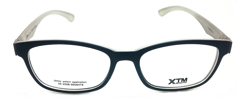 XTM Eye Glasses Frame Super Light, Flexible Prescription Frame X-2006 Black White