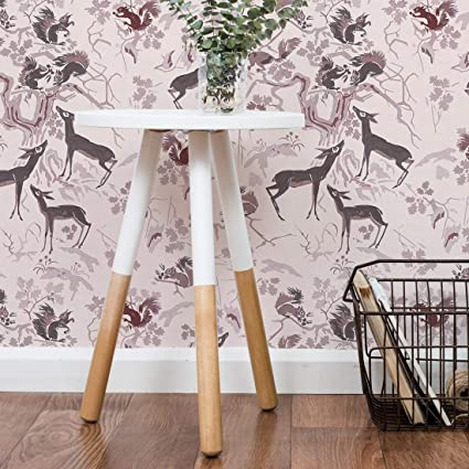 Flipside Enchanted Forest Removable Pre Pasted Wallpaper Each Roll Is 18 Ft Long X 18 In Wide Safe For Walls Easy To Apply Extremely Easy To