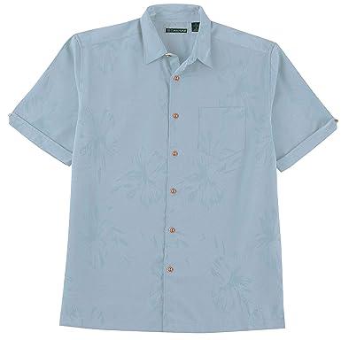 c19acceac9 Cubavera Men s Short Sleeve Tonal Floral Jacquard Woven Shirt with Pocket