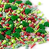 Sweets Indeed Sprinklefetti Christmas Tree Sprinkle Mix - Christmas Sprinkles for Baking - Holiday Cupcake and Cake Topper -