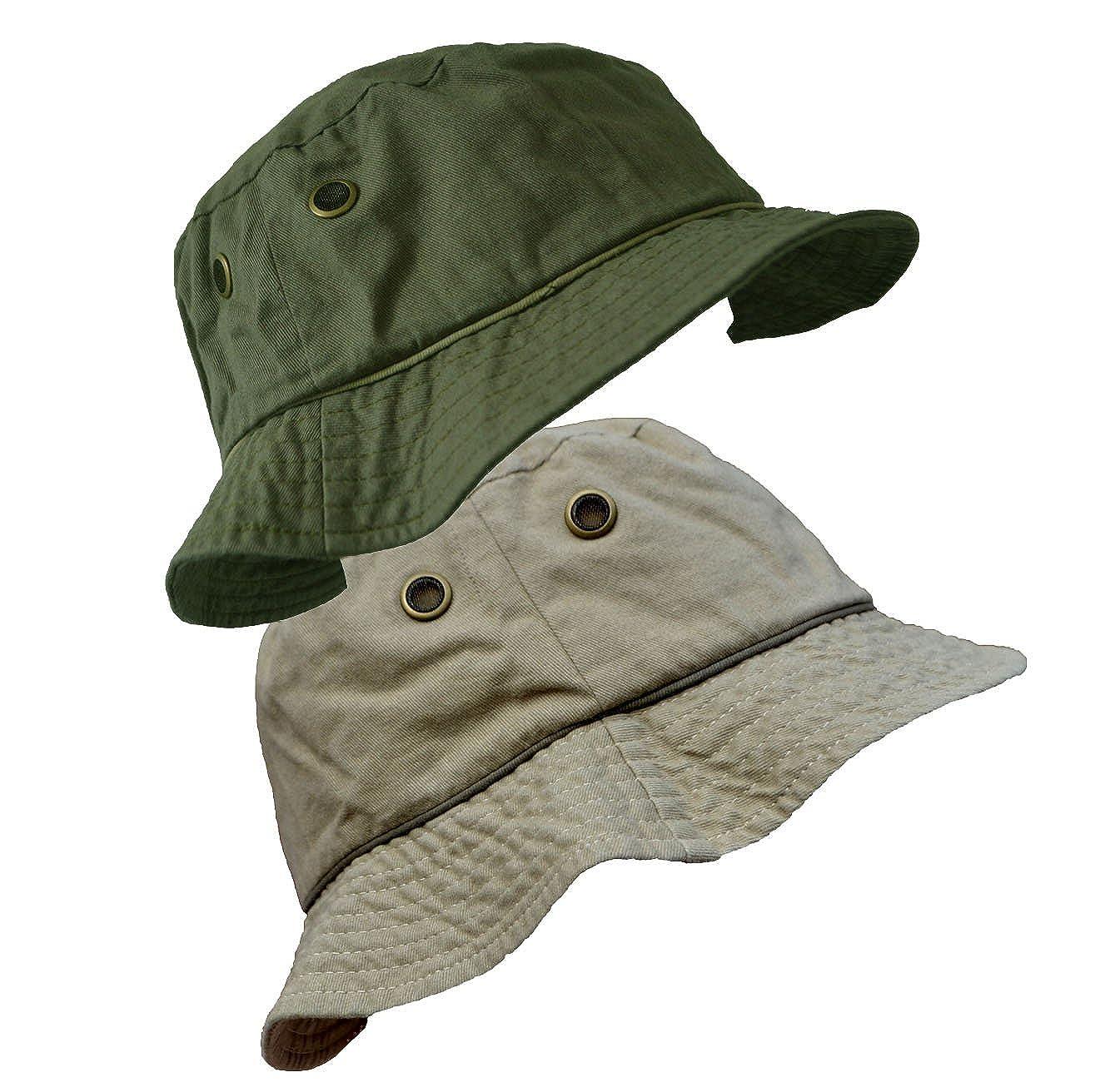 cappello da pescatore in cotone con occhiello e tesa larga Unisex