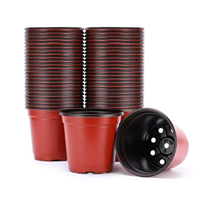 VIVOSUN 50pcs 6 Inch Planter Nursery Pots, Plastic Pots for Flower Seedling: Garden & Outdoor
