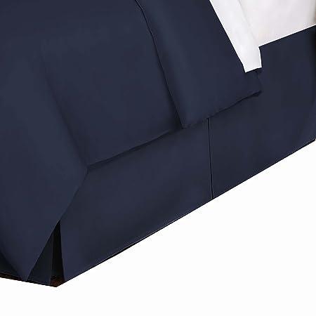 Belles & Whistles 400 TC Bed Skirt, Cal King, Navy
