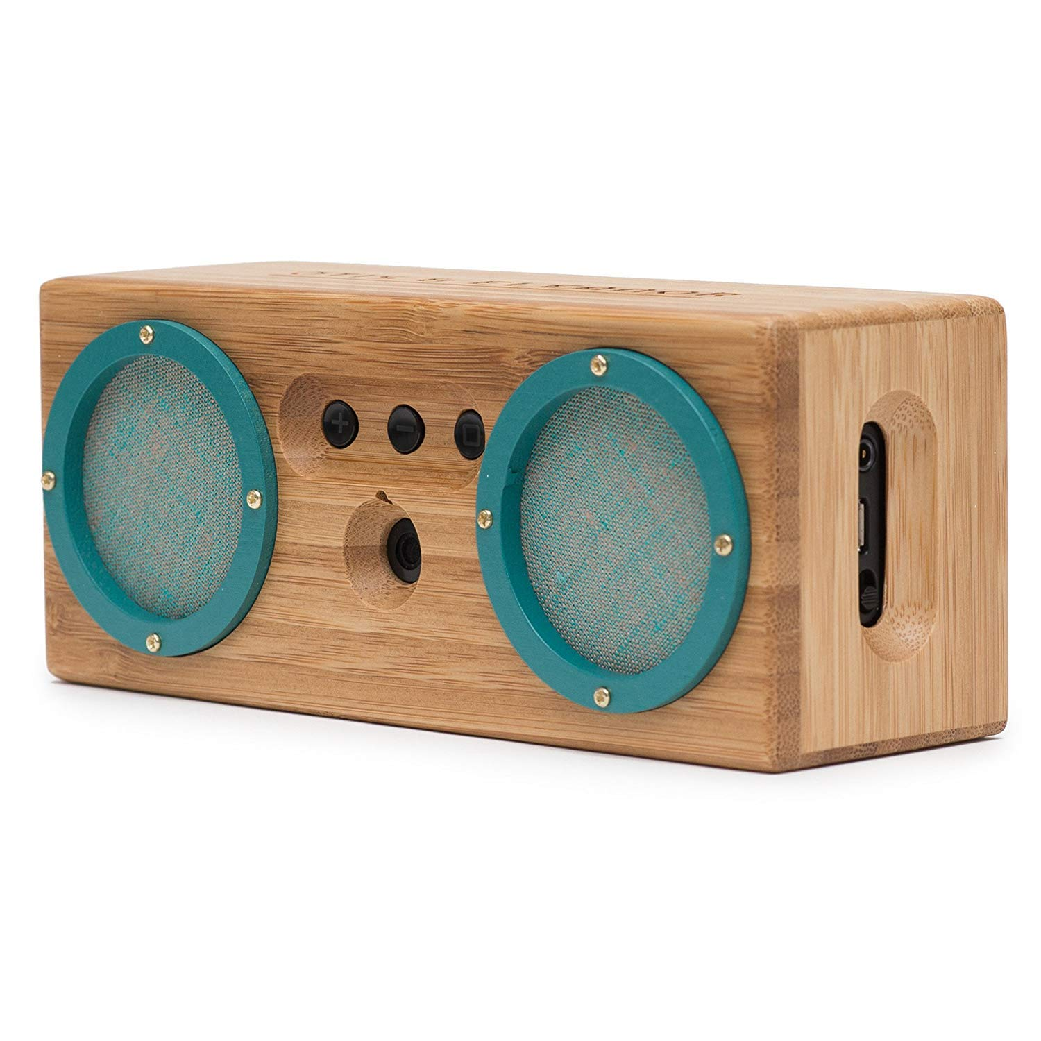 BONGO Wood Bluetooth Speakers, Retro Handcrafted Bamboo Portable Wireless Speaker for Travel, Home, Shower, Beach, Kitchen, Outdoors, Loud Bass with Dual Passive Woofers   Vintage Green