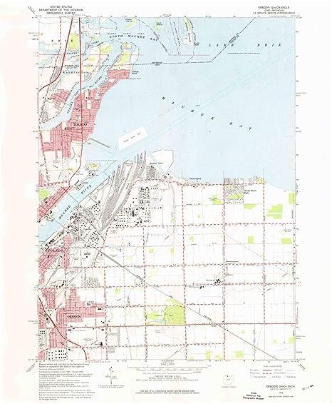 Amazon Com Yellowmaps Oregon Oh Topo Map 1 24000 Scale