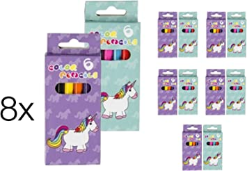 8x cada uno 6 Unicornio Papelería Unicornio Crayones / Plumas para ...