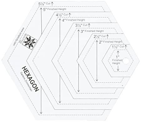 EZ Quilting 882670181A Hexagon Shapes Acrylic Template - White ...