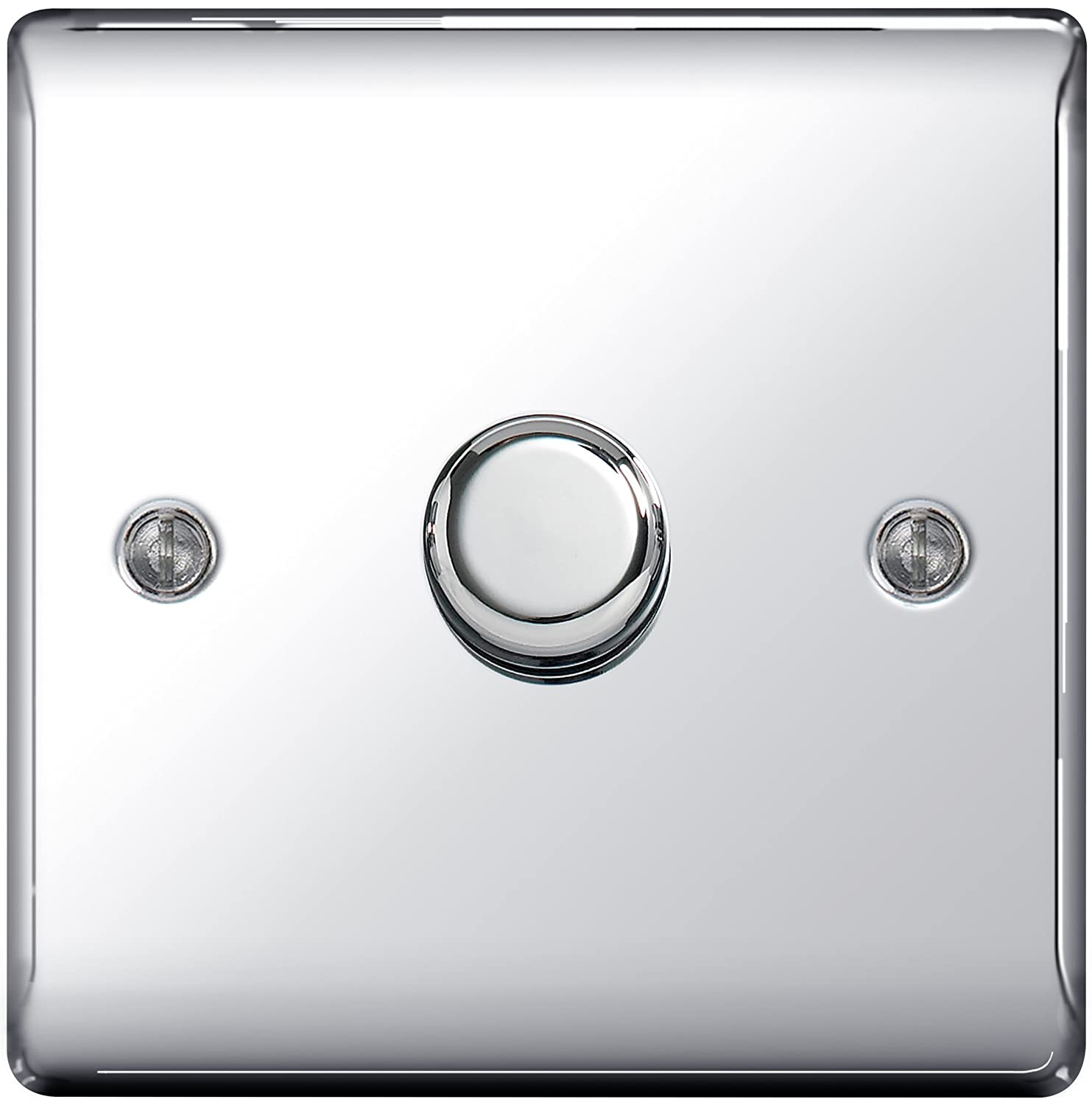 BG Nexus NBN81P Polished//Black Nickel Single Dimmer Switch 1 Gang 2 Way