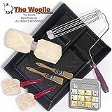 The Woolie Dual 2-Color Split Roller Starter Kit - Faux Finish Sheepskin Painting Roller Set