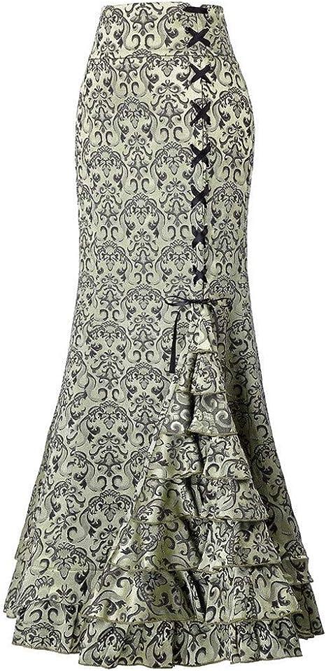 Falda para Mujer de los años 50, QIjinlook, Estilo gótico, Estilo ...