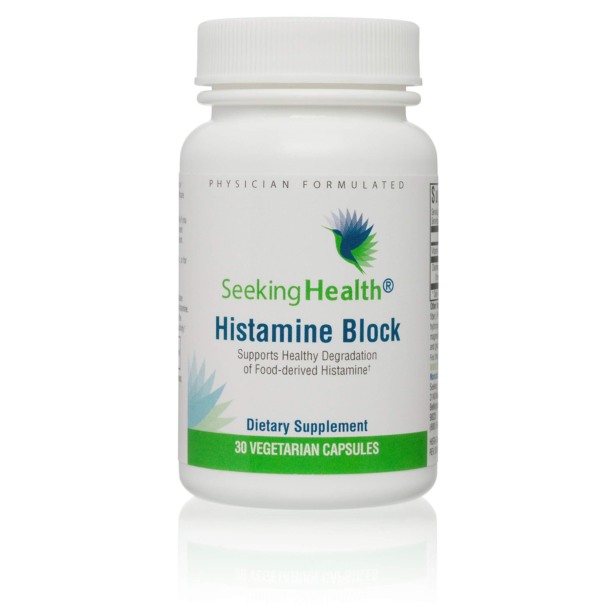 Seeking Health | Histamine Block | DAO Supplement Enzyme | Food Intolerance | Histamine Intolerance | GI Tract Supplements | Dhist 30 Capsules by Seeking Health