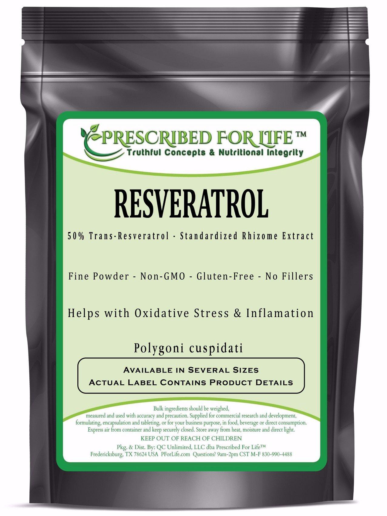 Resveratrol - 50% Trans-Resveratrol - Natural Rhizome Extract Powder (Polygoni cuspidatium), 1 kg