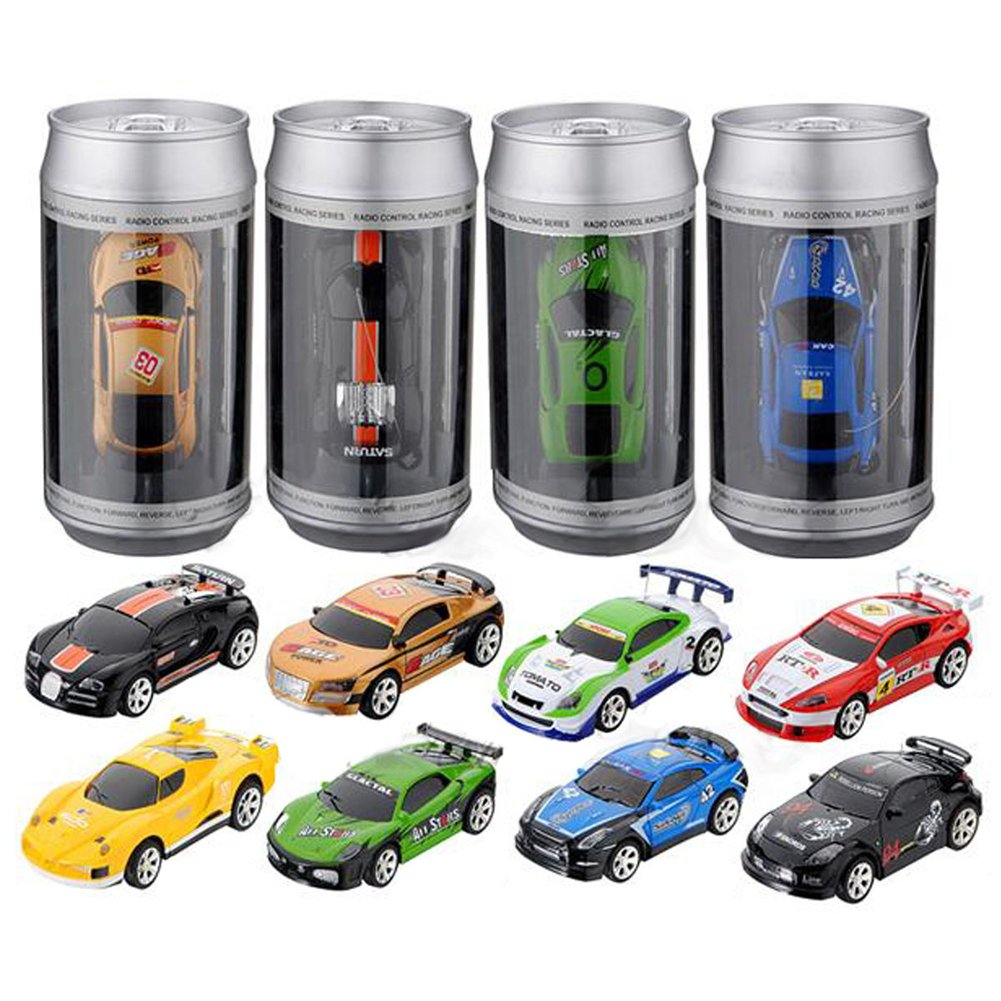 Racing Car Toy RC Radio Remote Control Race Car For Kids Mini Coke Can 1:58(Model and Color is Random) Childplaymate