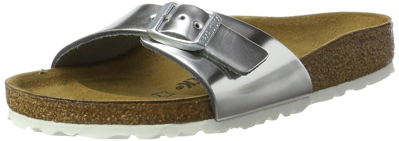 Birkenstock Madrid Leder - Mules Mujer 35 EU|Silber (Metallic Silver)
