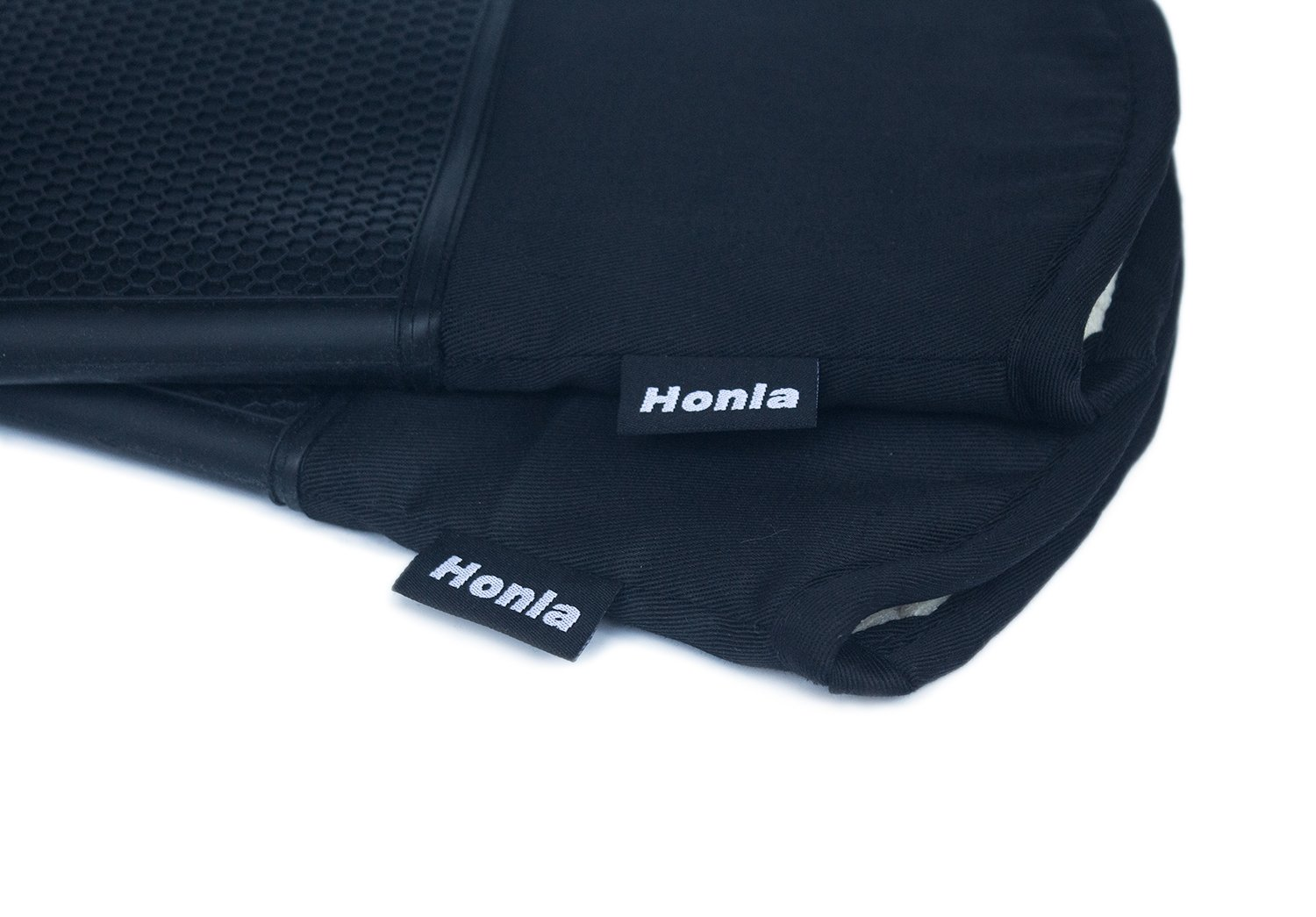 Honla Silicone Oven Mitts - Heat Resistant to 500° F,1 Pair of Non-Slip Kitchen Oven Gloves for Cooking,Baking,Grilling,Barbecue Potholders,Black by Honla (Image #4)