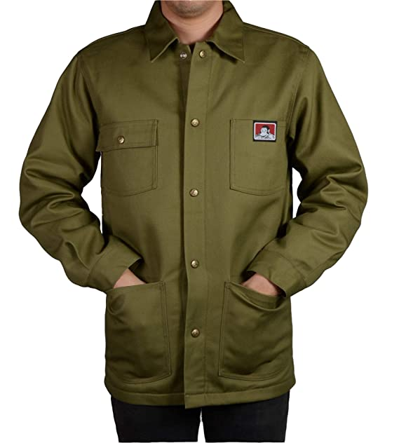 f557a7d6a Ben Davis Men's Original Style Jacket, with Front Snap (Army Green ...