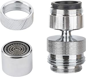 Faucet to Garden Hose Adapter Kit, Sink Hose Attachment Faucet Adapter to Garden Hose 360-degree Swivel with Removable Faucet Aerator Garden Hose Sink Adapter Including Female Adapter- Chrome Finished