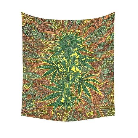 Amazon.com: interestprint marihuana Tapestry Vertical de ...