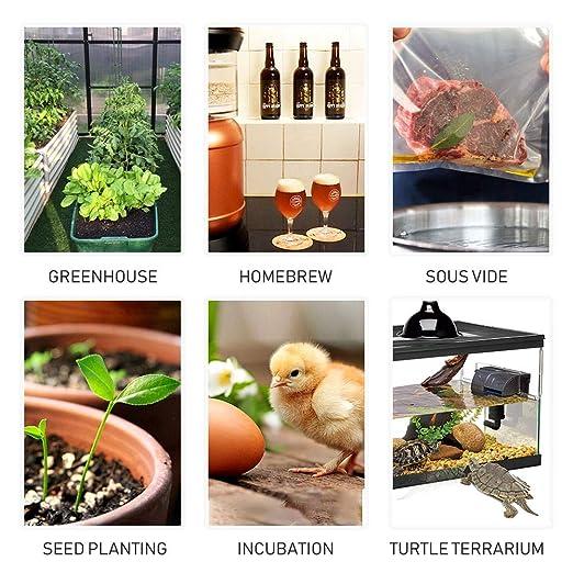 Inkbird Termostato ITC-308 + Higrostato IHC-200 Conjuntos Adecuado para Jamón Casera, Mini Invernadero, Cultivo de Hongos, Reptiles