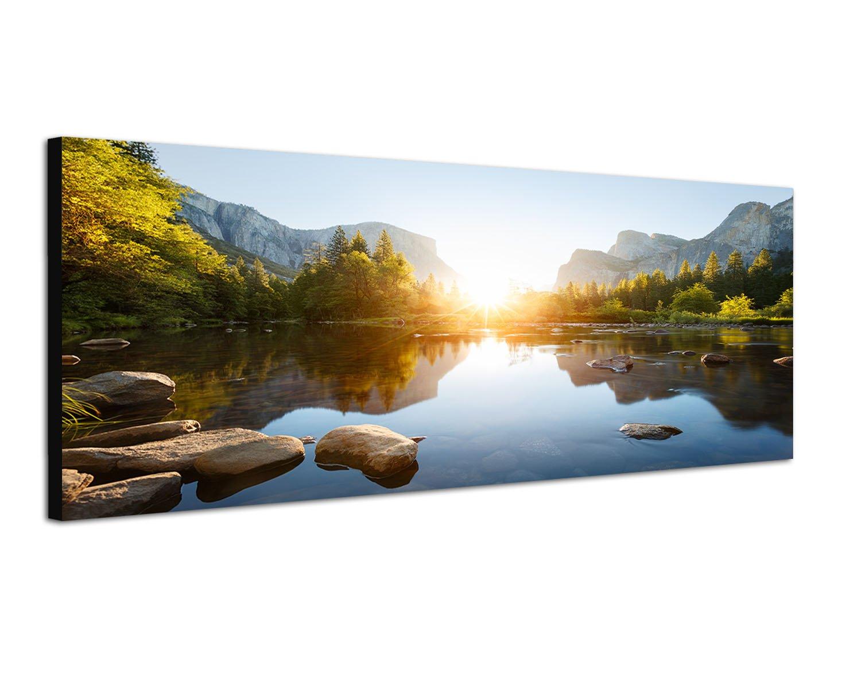 Wohnzimmer bilder leinwand  Amazon.de: 150x50cm Bild auf Leinwand und Keilrahmen fertig zum ...