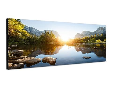 Amazon.de: 150x50cm Bild auf Leinwand und Keilrahmen fertig zum ...