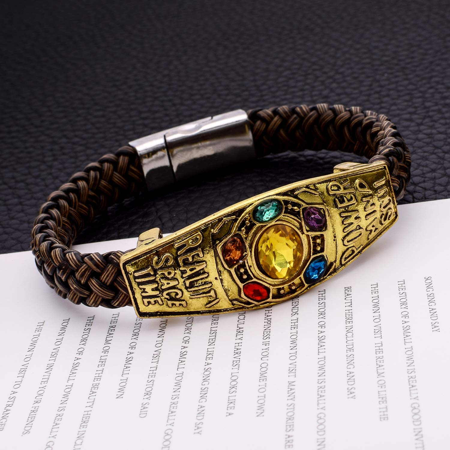 Unrend Thanos Infinite Power Soul Stone Magnet Bracelets Infinity War Cosplay Women Men Charm Bangles Jewelry