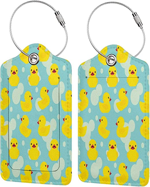 Rubber Duck Luggage Tags Bag Travel Labels For Baggage Suitcase