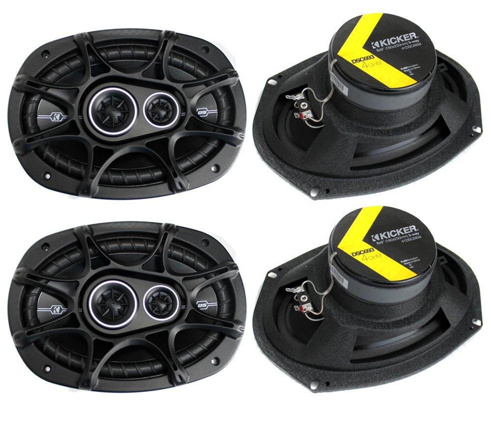 4) New Kicker 41DSC6934 D-Series 6x9'' 720 Watt 3-Way Car Audio Coaxial Speakers