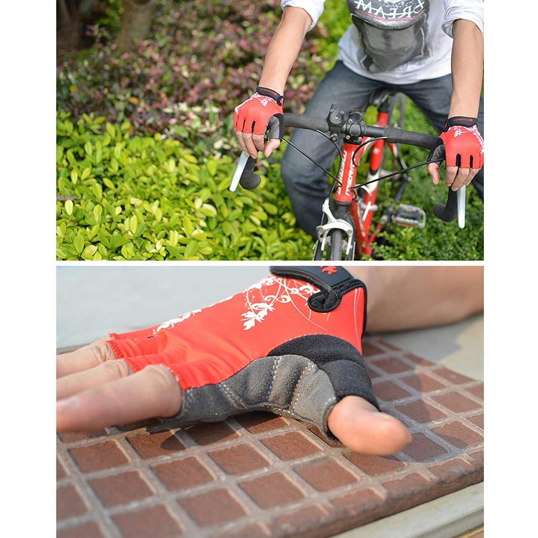 Aokarry Gloves Cycling Motocycle Gloves Lycra Half Finger Gloves Fingerless