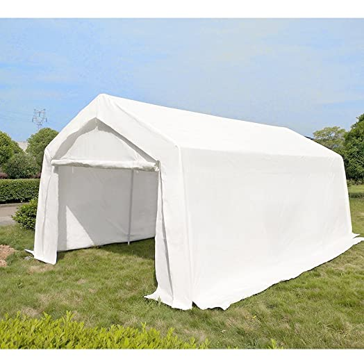 Heavy Duty Waterproof 3m X 6m Carport Garage Party Tent Canopy Car Shelter With Steel Frame
