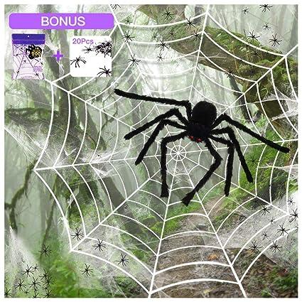 Amazon Com Silvia 4 Packs Halloween Spider Decorations 35 5 Huge