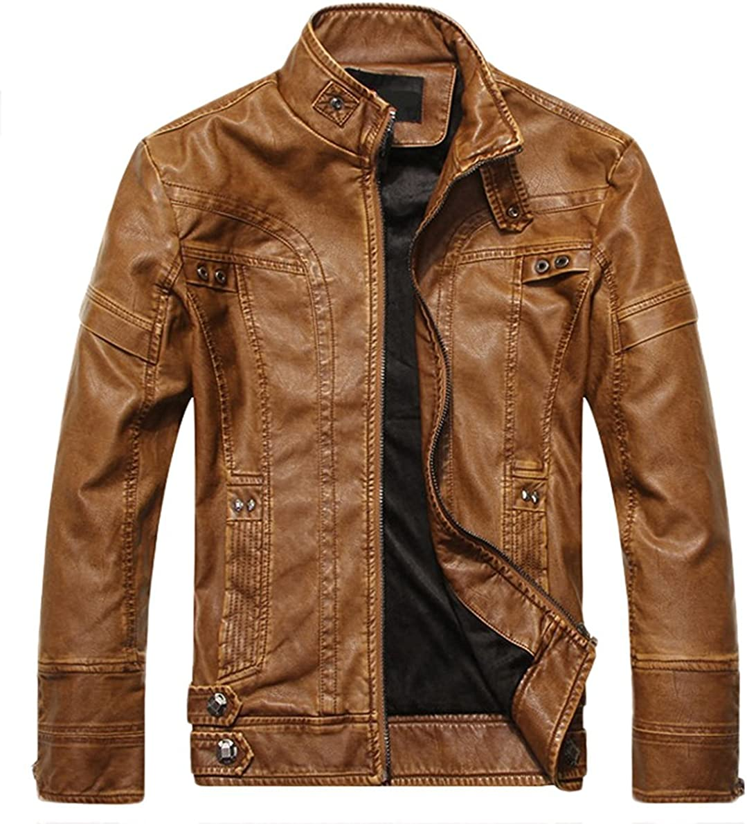 Biker Jacket SID Mens Chunky Bomber Lambskin Leather Jacket
