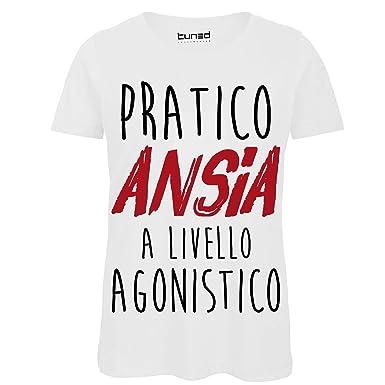 3350f19ce8 CHEMAGLIETTE! T-Shirt Divertente Donna Maglietta con Stampa Frasi Ironiche  Pratico ansia Tuned