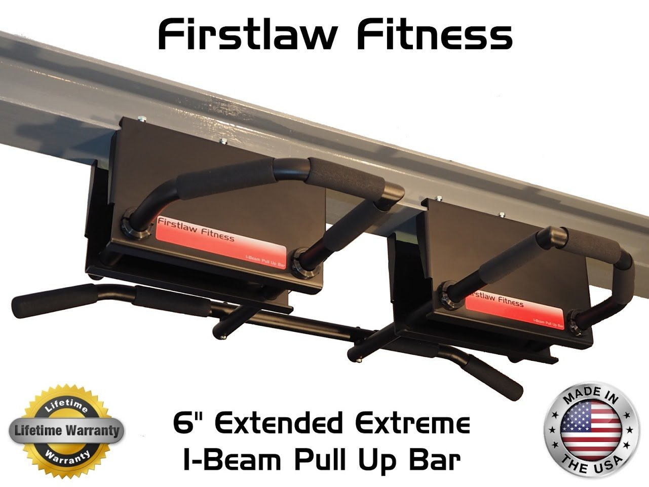 6'' Extended Extreme I-Beam Pull Up Bar - (Long Bar with Bent Ends) by Firstlaw Fitness (Image #3)