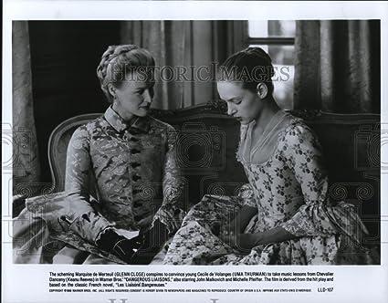 1989 Press Photo Glenn Close And Uma Thurman In Dangerous Liaisons Cvp36958 8 X