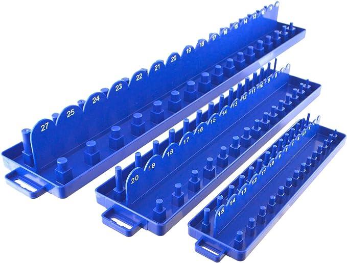 """1 PIECES 1//4/"""" 3//8/"""" 1//2/"""" unité métrique Sae Douille Plateau Rack Support Stockage Organisateur !"""